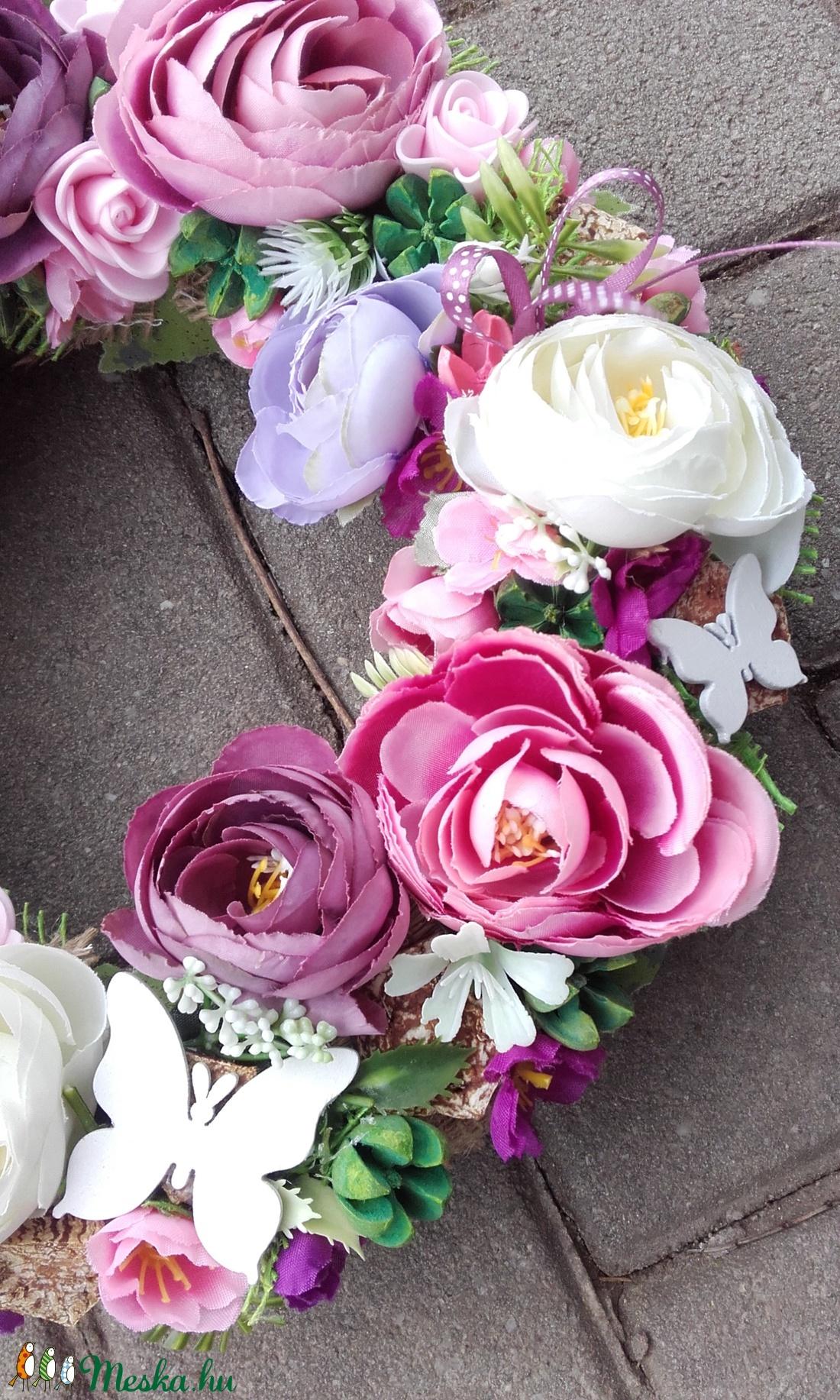 ÉDES OTTHON tarka-vidám-virágos KOPOGTATÓ, AJTÓD�SZ,.FALIDÍSZ - otthon & lakás - dekoráció - ajtódísz & kopogtató - Meska.hu