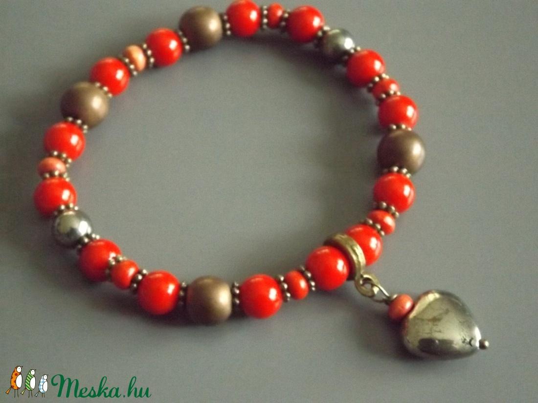 My Valentine karkötő, dekoratív, ásvány, ajándék, nőnek, lánynak - ékszer - karkötő - Meska.hu