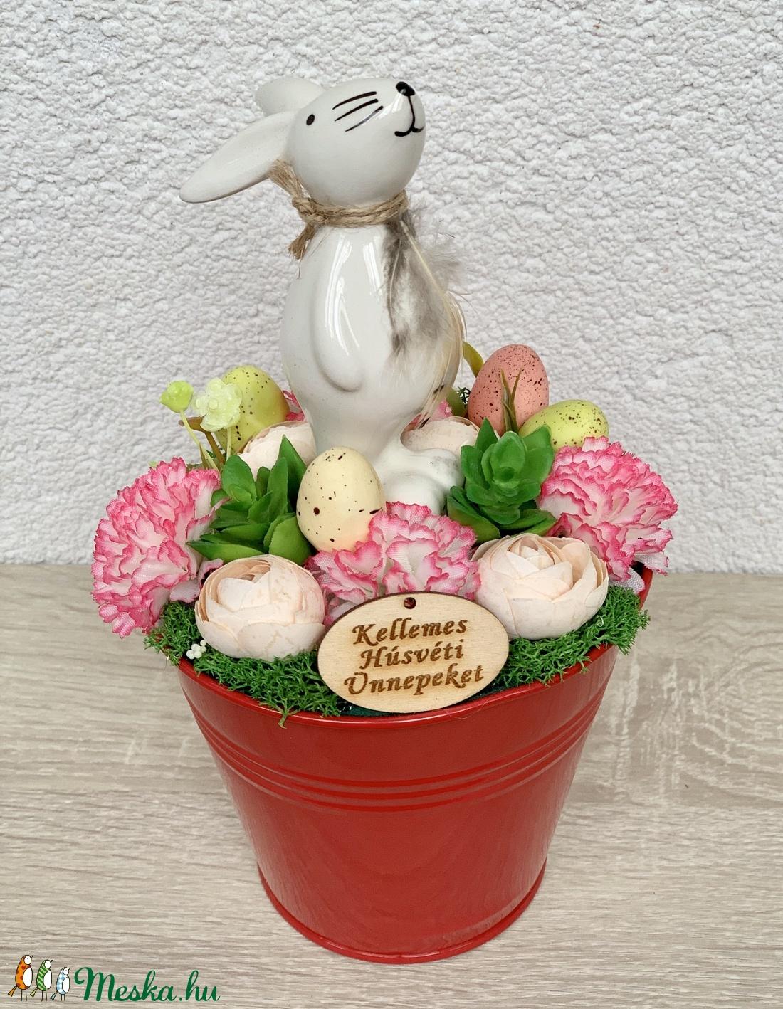 Büszke húsvéti nyuszi - asztaldísz, dekoráció (AKezmuvescsodak) - Meska.hu