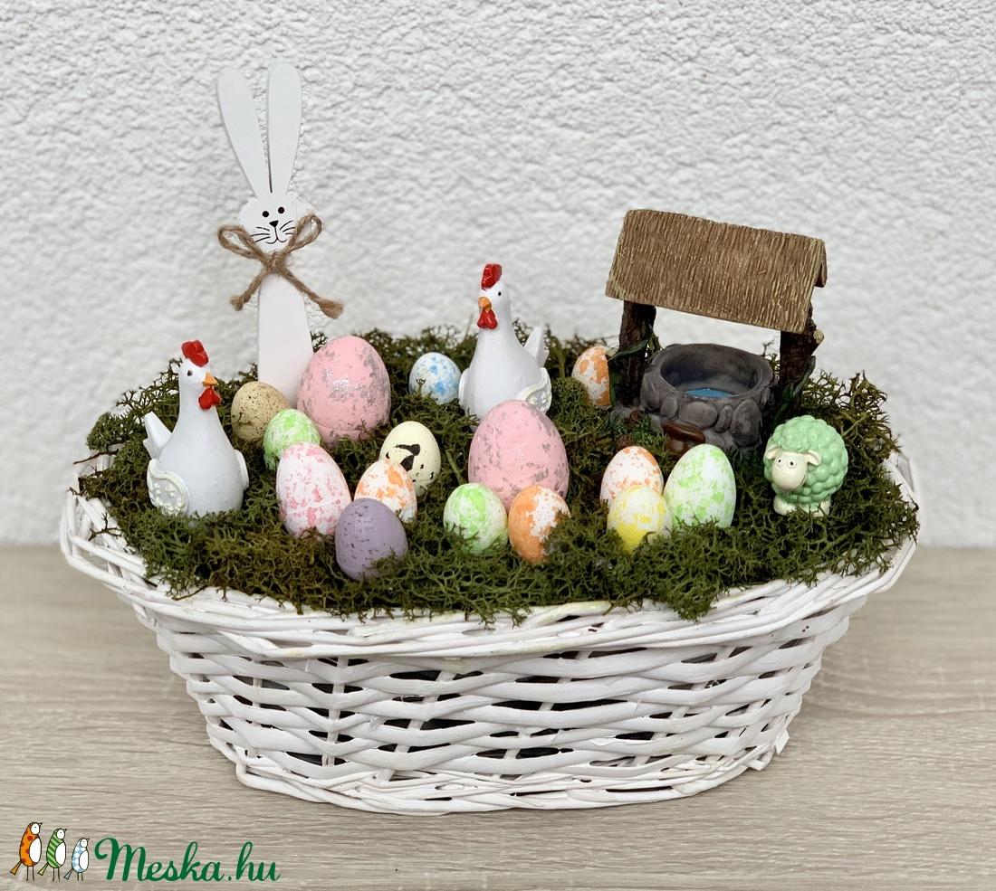 Tyúkudvar húsvéti dekoráció - asztaldísz, dekoráció (AKezmuvescsodak) - Meska.hu
