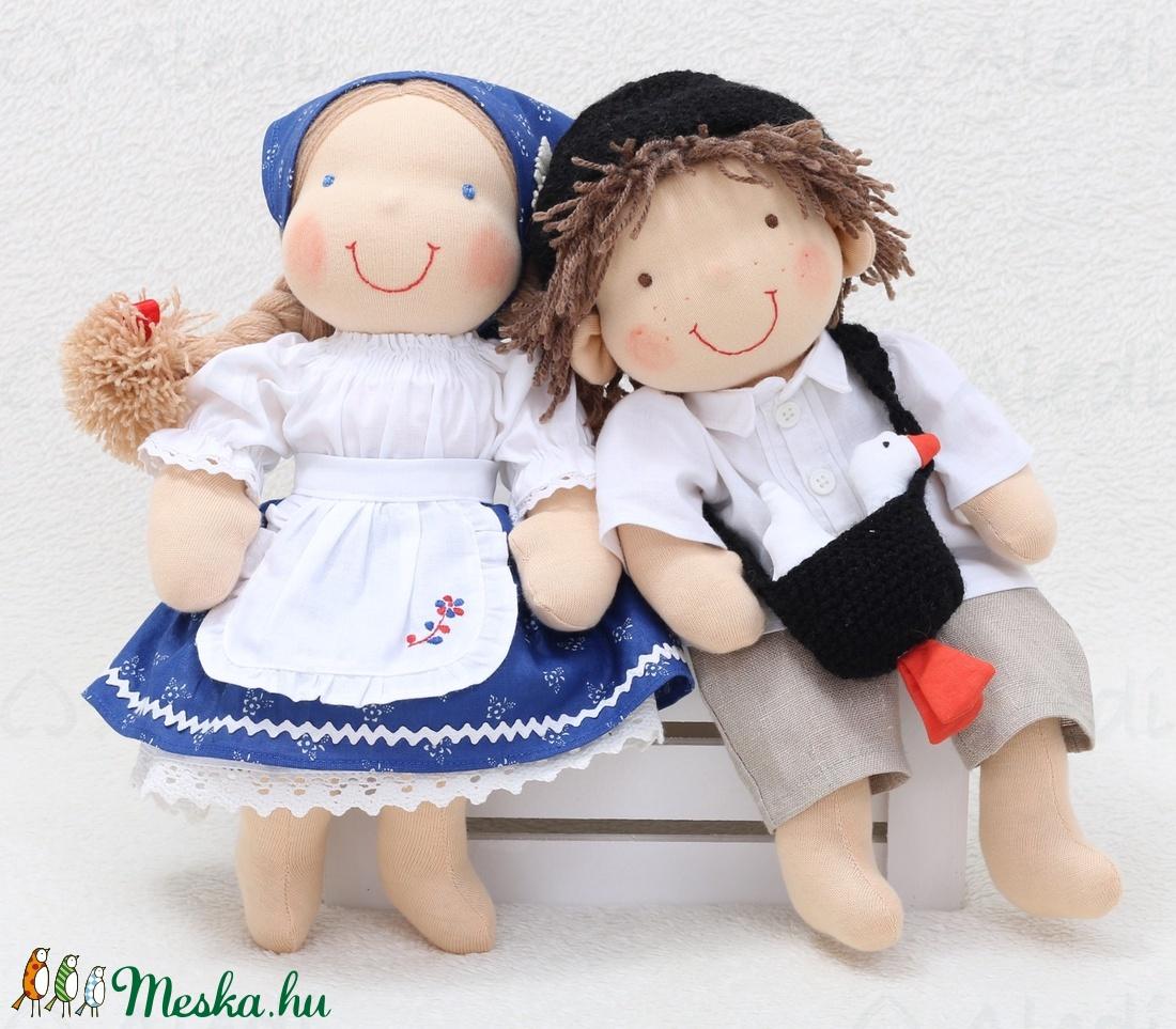 Lúdas Matyi és az ő szíve hölgye. Waldorf babák (Aledi) - Meska.hu