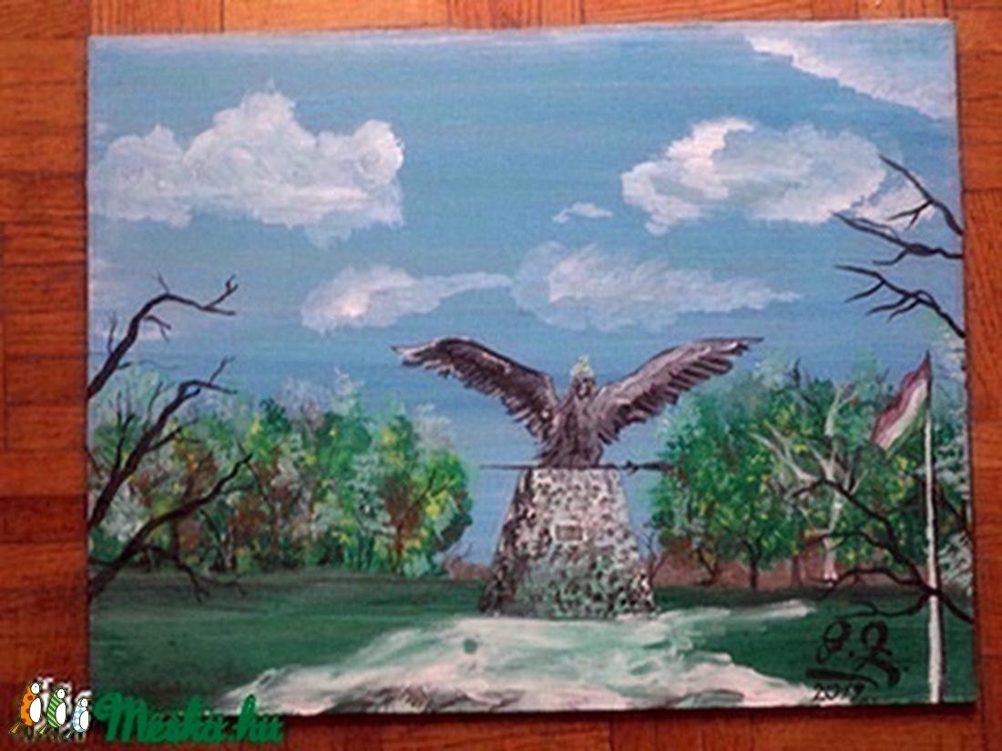 Turul madár Tatabánya festmény (alkoto1982) - Meska.hu
