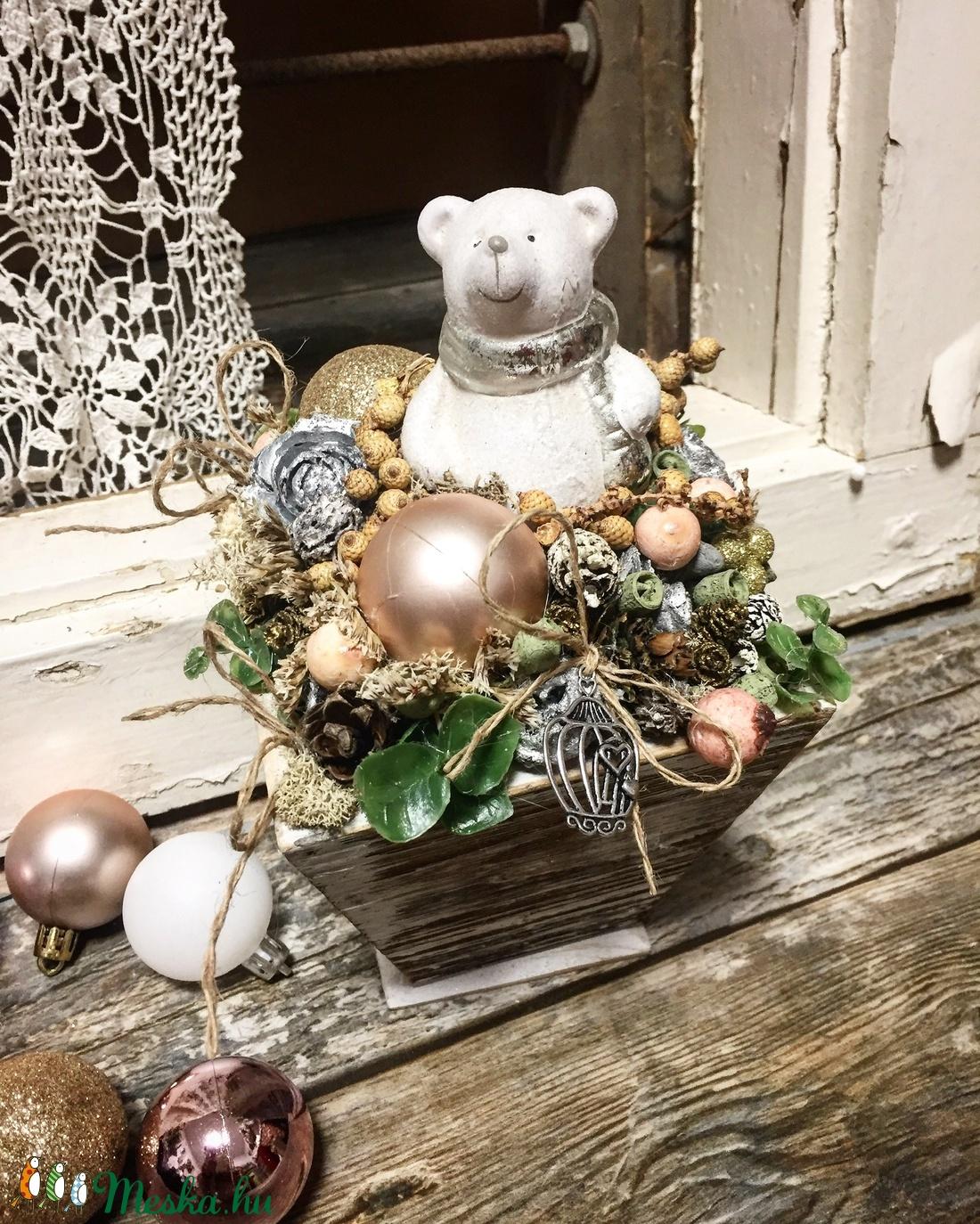 Jeges macis karácsonyi asztaldísz (Alomzug) - Meska.hu