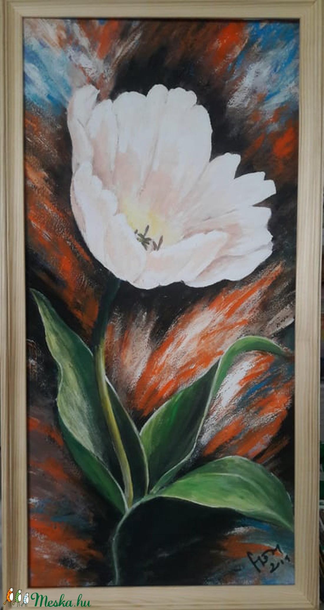 Egy szál tulipán - akrilfestmény - Meska.hu