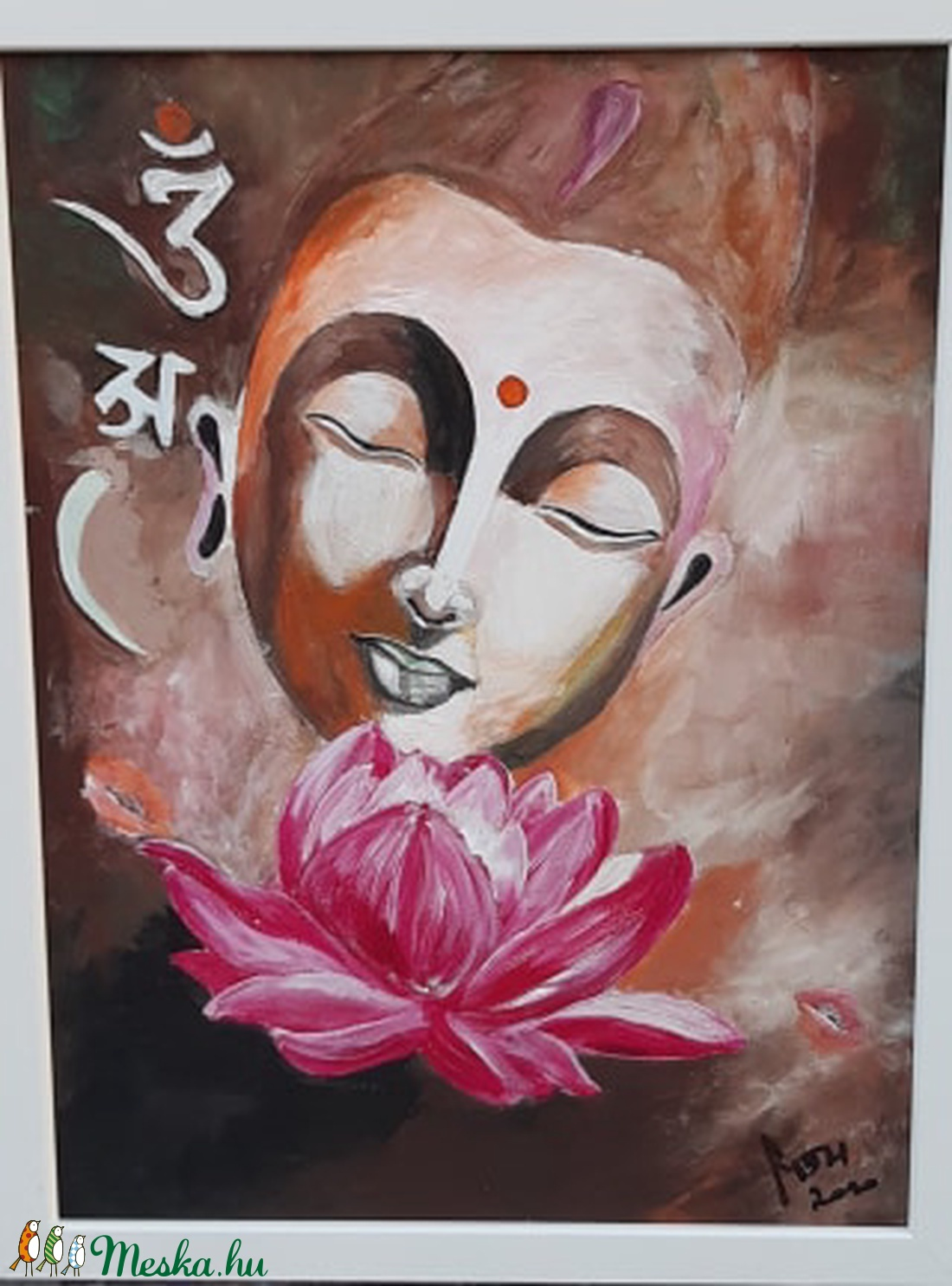 Boldogság - Buddha - akril festmény (ametisztkreativ) - Meska.hu