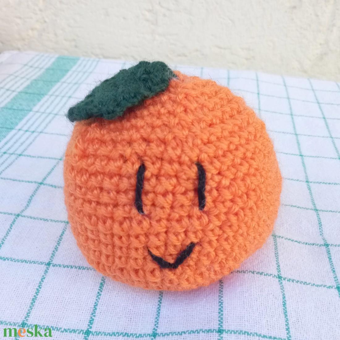 narancs - vidám horgolt gyümölcsök kollekció - játék & gyerek - plüssállat & játékfigura - más figura - Meska.hu