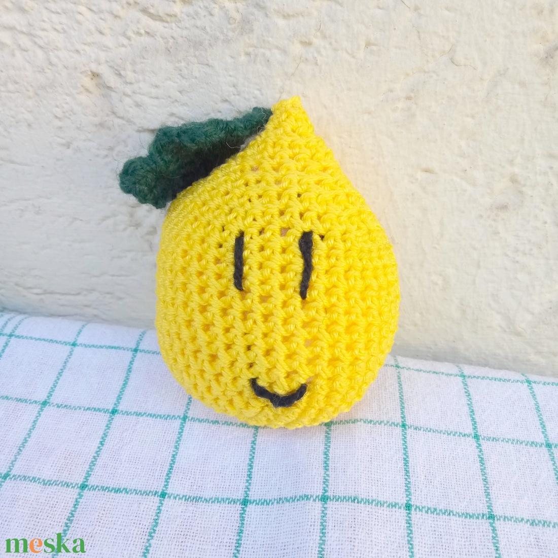 citrom - vidám horgolt gyümölcsök kollekció - játék & gyerek - plüssállat & játékfigura - más figura - Meska.hu