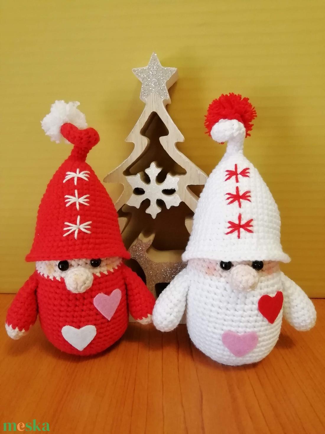 Karácsonyi Manópár - karácsony - karácsonyi lakásdekoráció - karácsonyi manók, figurák - Meska.hu