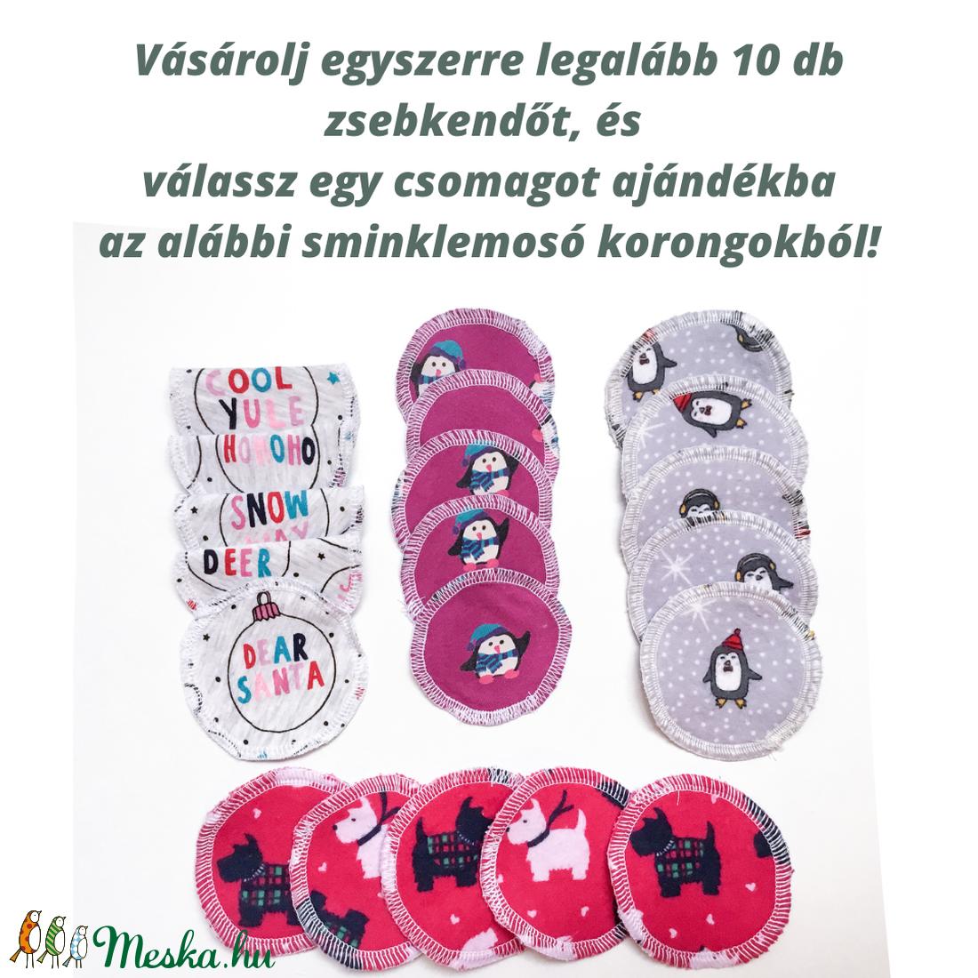 2 db puha női, kislány vagy gyerek zsebkendő újrahasznosított, virágos pamut anyagból karácsonyra az allergia szerzonra - ruha & divat - sál, sapka, kendő - Meska.hu