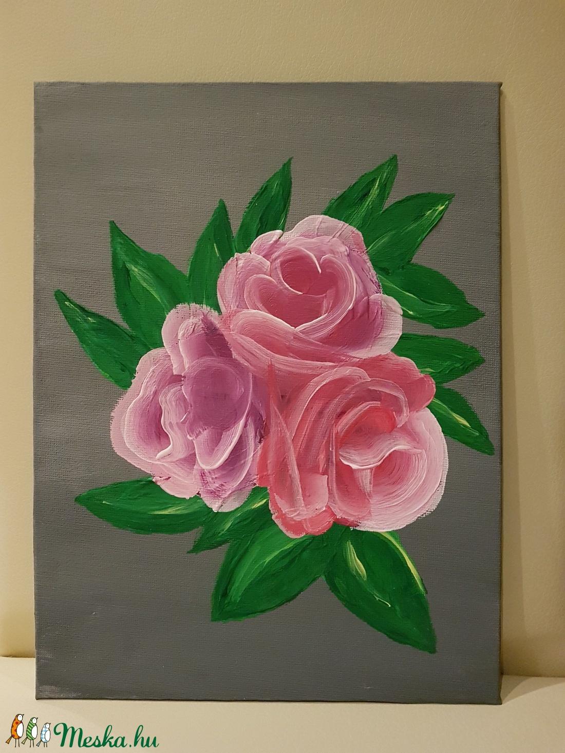 Akril rózsa kép, absztrakt (Andyjrainbow) - Meska.hu