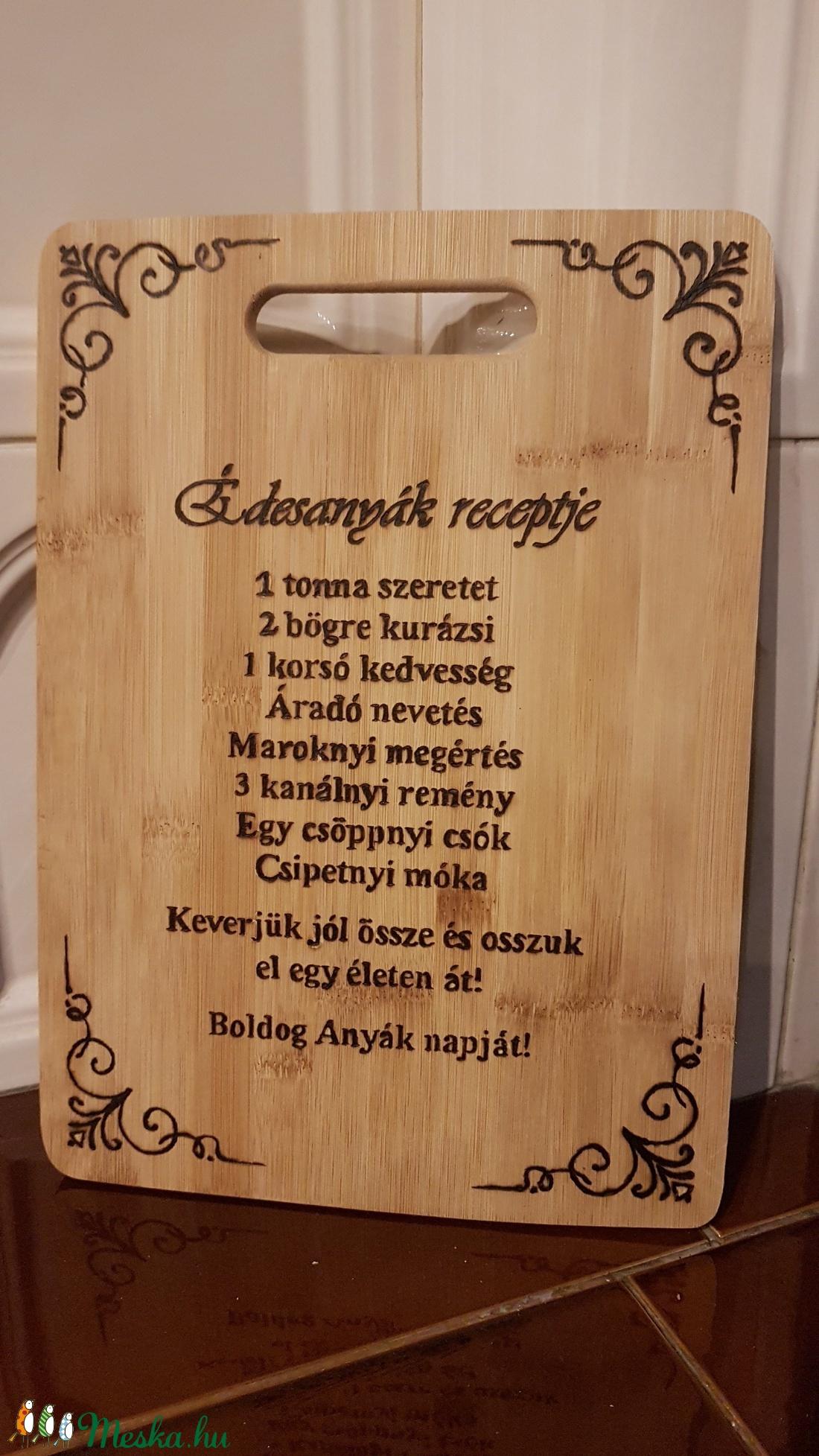Vágódeszka, anyák napi - otthon & lakás - konyhafelszerelés - Meska.hu