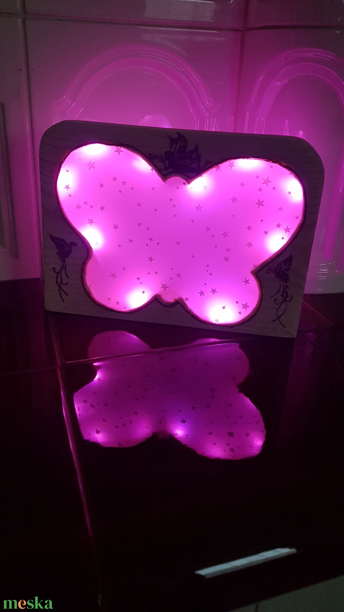 LED lámpa, pillangó - otthon & lakás - lámpa - Meska.hu