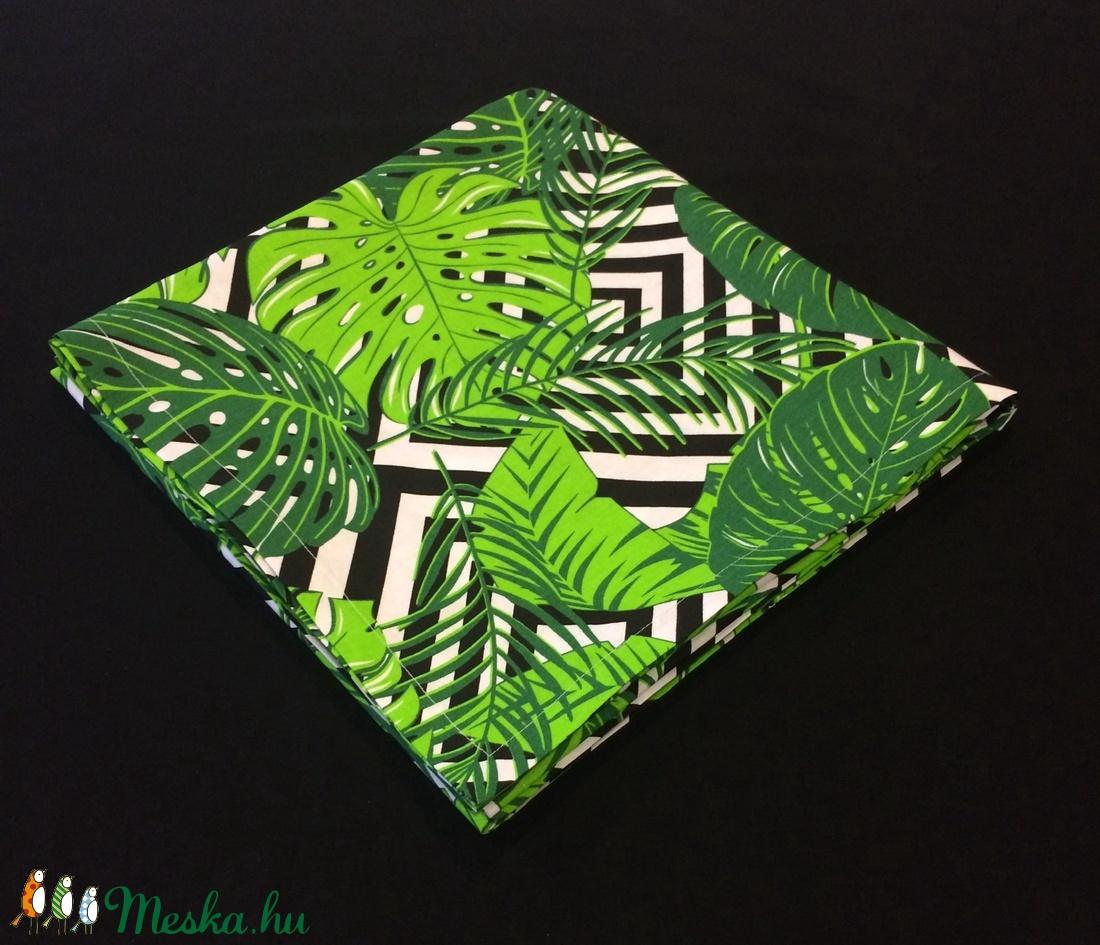 Asztal terítő 180 x 150 cm pálmalevél mintás  - otthon & lakás - konyhafelszerelés - terítő - Meska.hu
