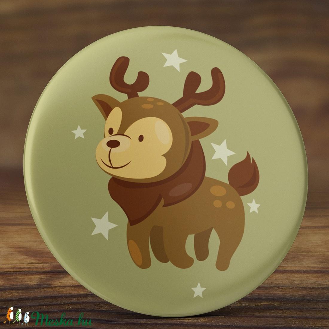 Karácsonyi tükör - szarvas zsebtükör - szarvas tükör - őz tükör - karácsony zsebtükör- őzike tükör - karácsony ajándék  (AngelPin) - Meska.hu