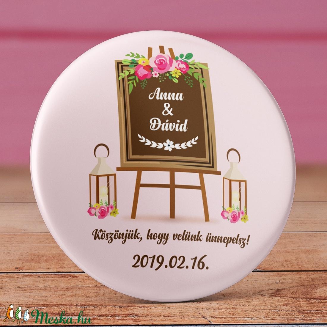 7fe3e93402 Esküvői köszönet ajándék hűtőmágnes - Esküvői köszönőajándék mágnes - vintage  esküvő - virág esküvő