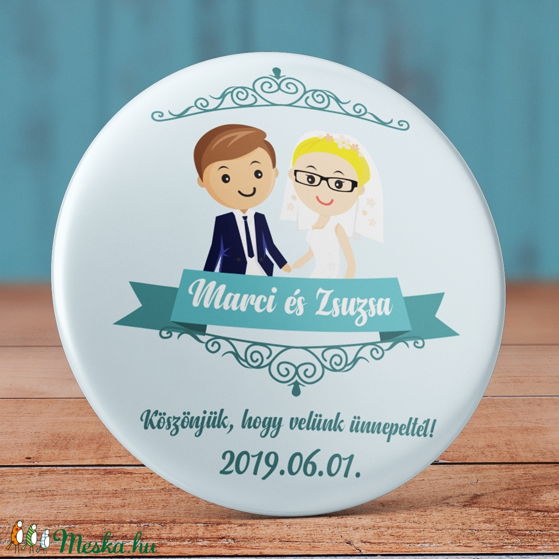 96b8397094 Foglalt Zsuzsa0922 - Esküvői köszönet ajándék hűtőmágnes - Esküvői  köszönőajándék mágnes