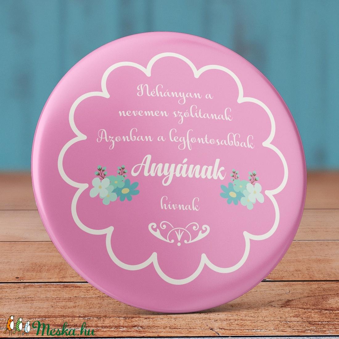 e612350bee Anya mágnes - szeretlek anya hűtőmágnes - anyu mágnes - virág mágnes -  vintage ajándék ...