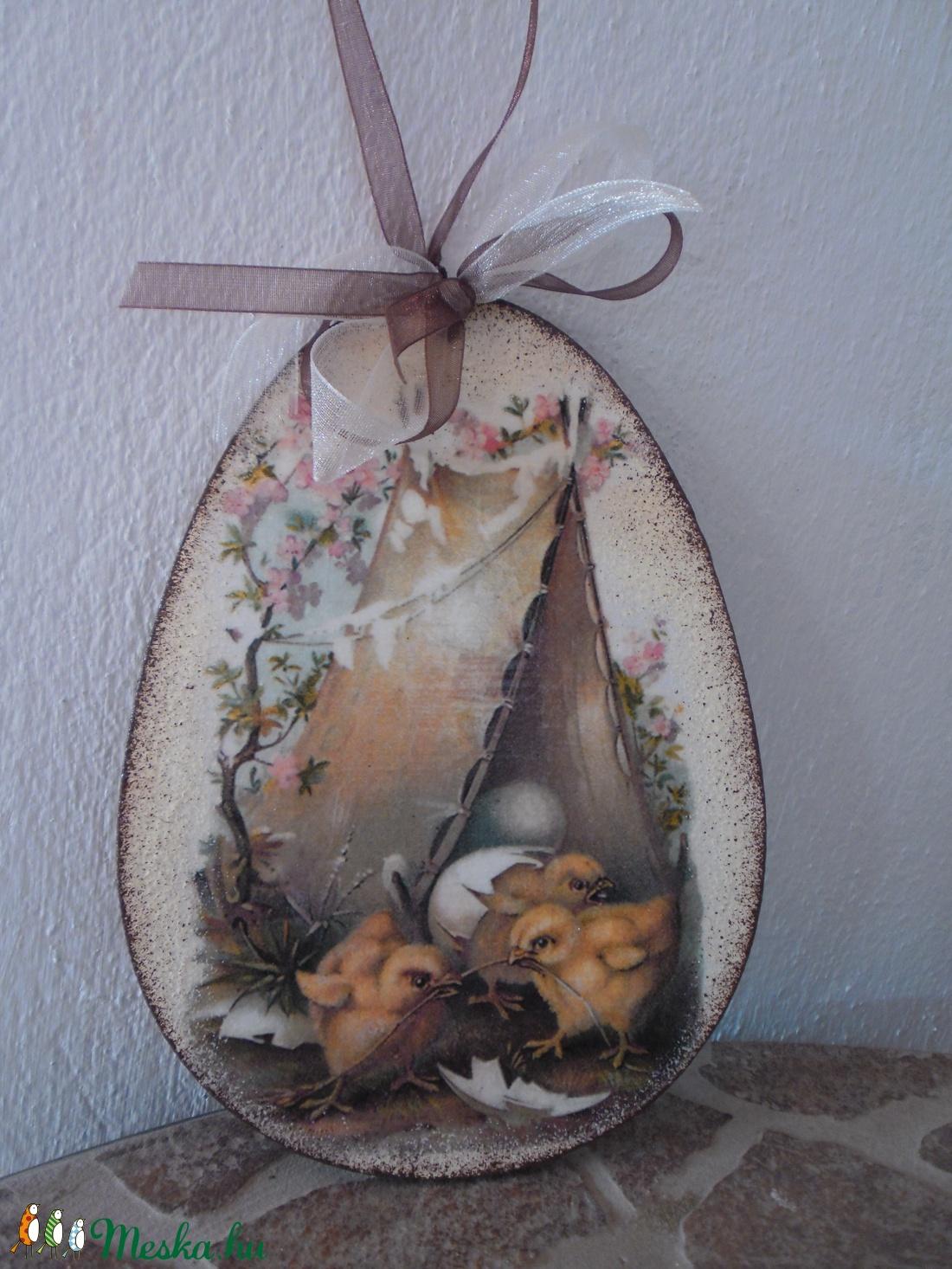 Húsvéti,tavaszi ajtódísz,húsvéti tojás ,dekoráció nagy  - Meska.hu