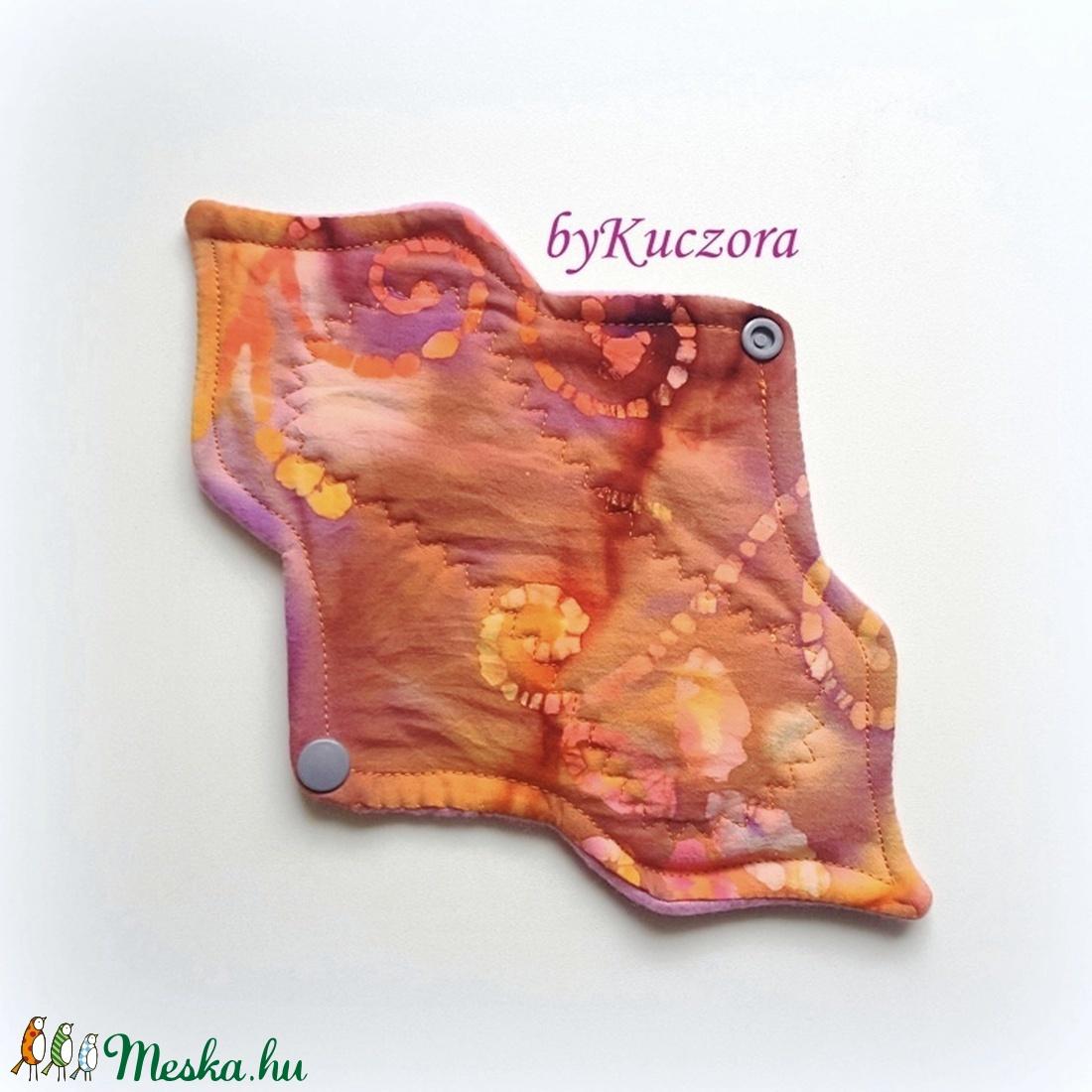 23 cm-es mosható intim betét, női betét - narancssárga, batikolt mintás (angyalifeny) - Meska.hu