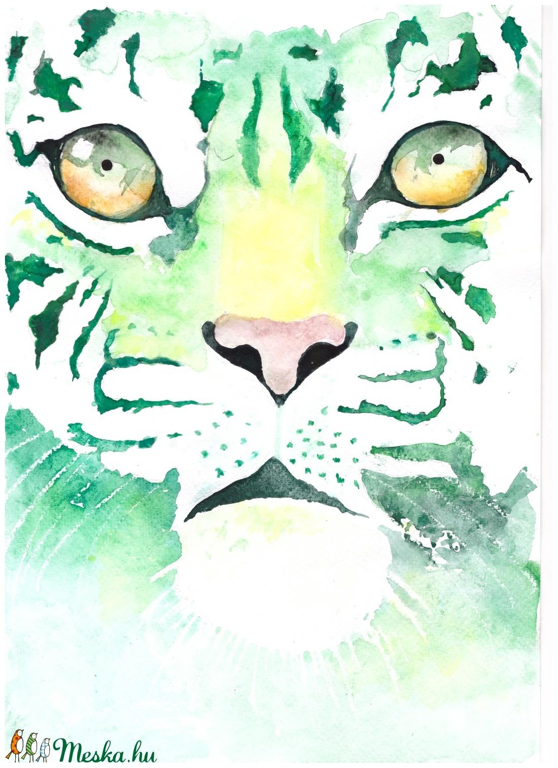 Zöld tigris (Angyalpottyantas) - Meska.hu