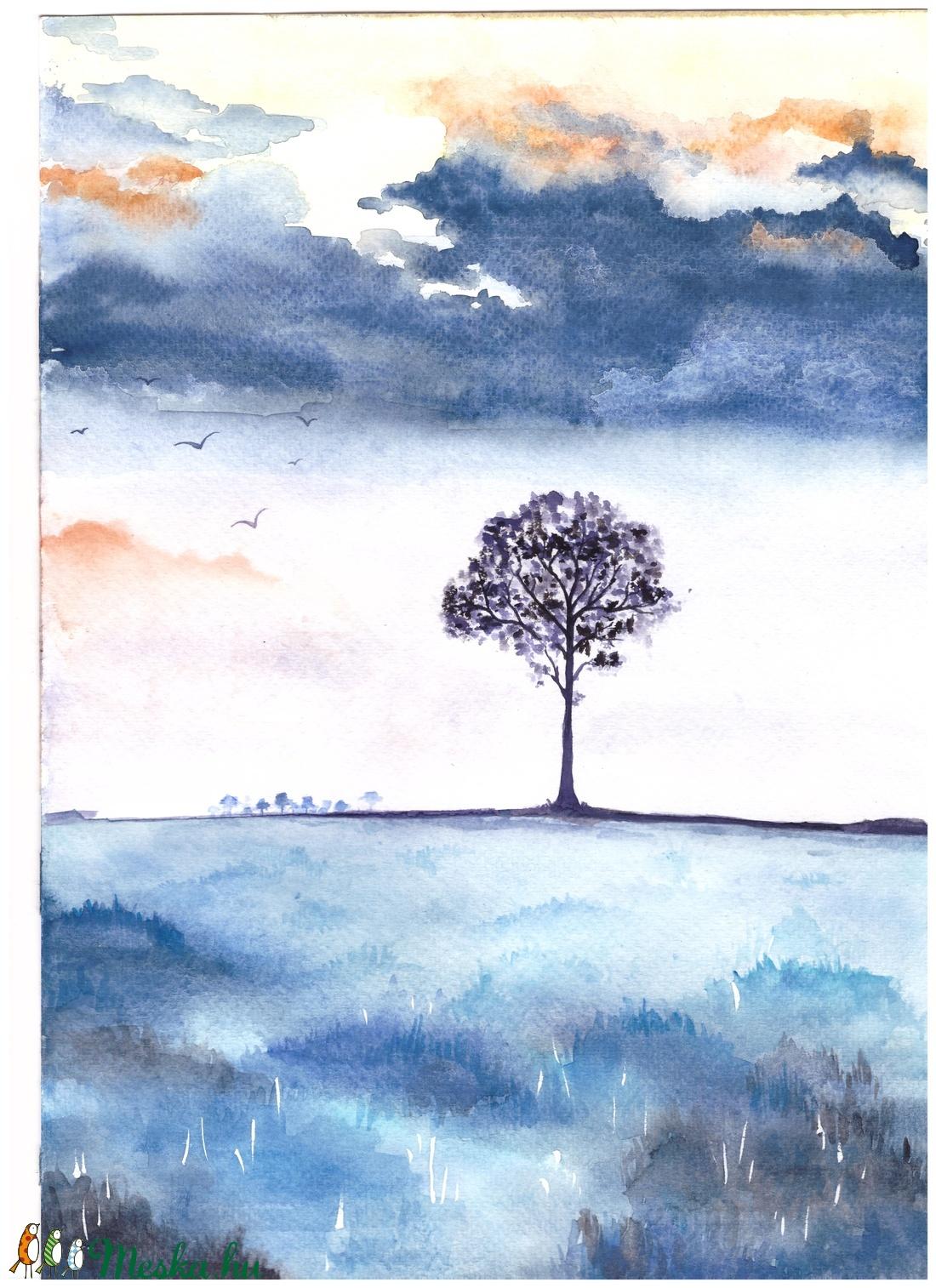 A magányos fa (Angyalpottyantas) - Meska.hu