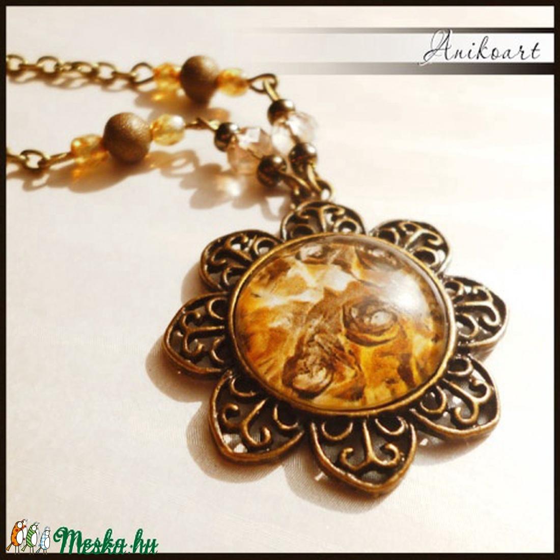 Vintage rózsás bronz nyaklánc - Meska.hu