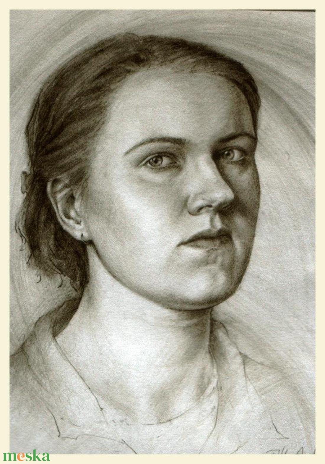 Portré (grafika) kb. 40x50 cm-es méretben papíron - Meska.hu