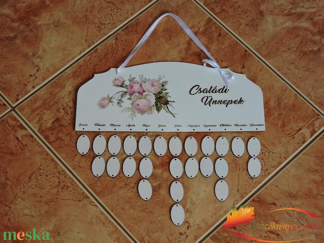 Rózsás naptár tábla (anitaszokrenyes) - Meska.hu
