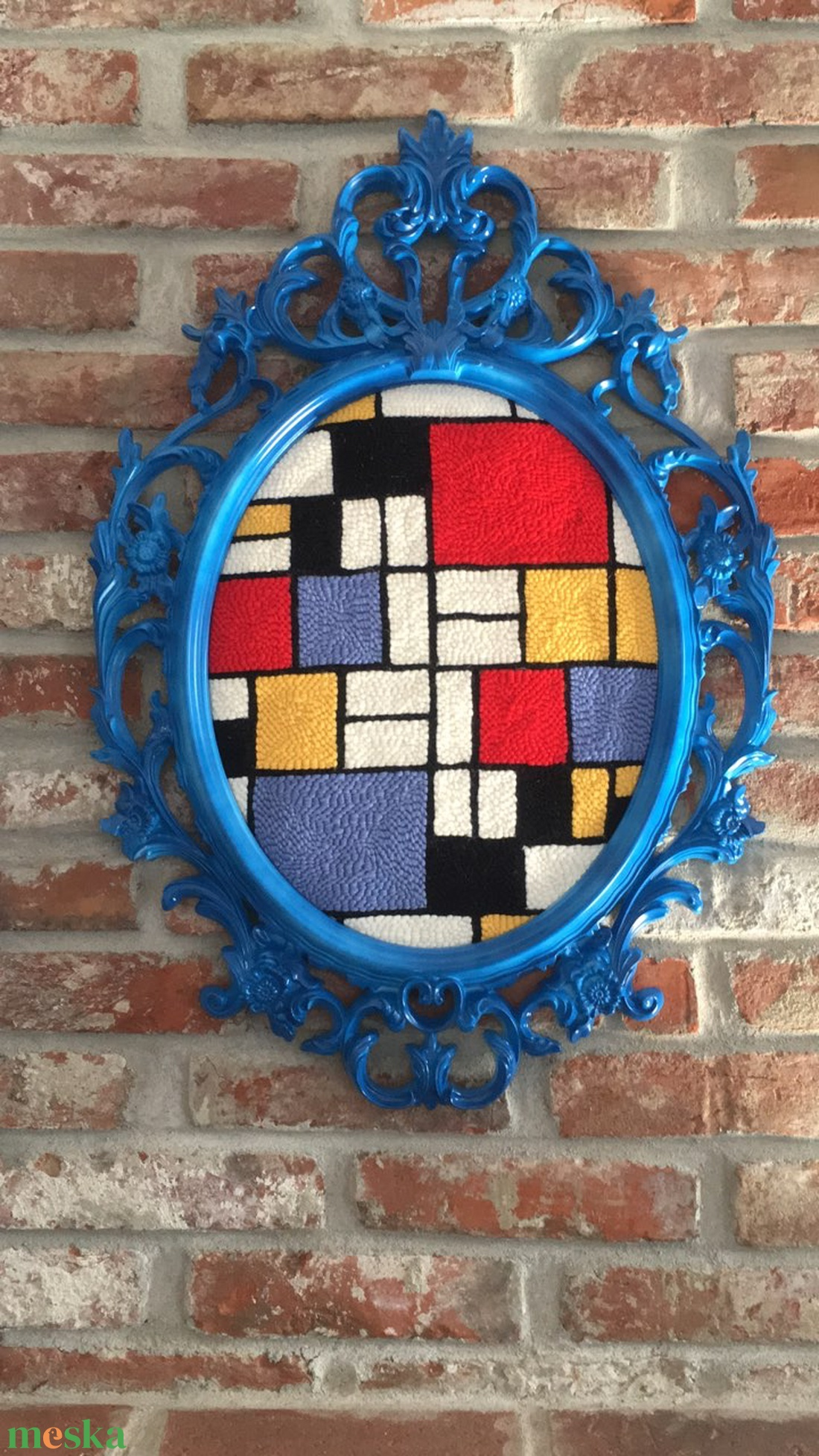 Falikép gyapjúval - Mondrian inspiráció (AnnaKamadar) - Meska.hu