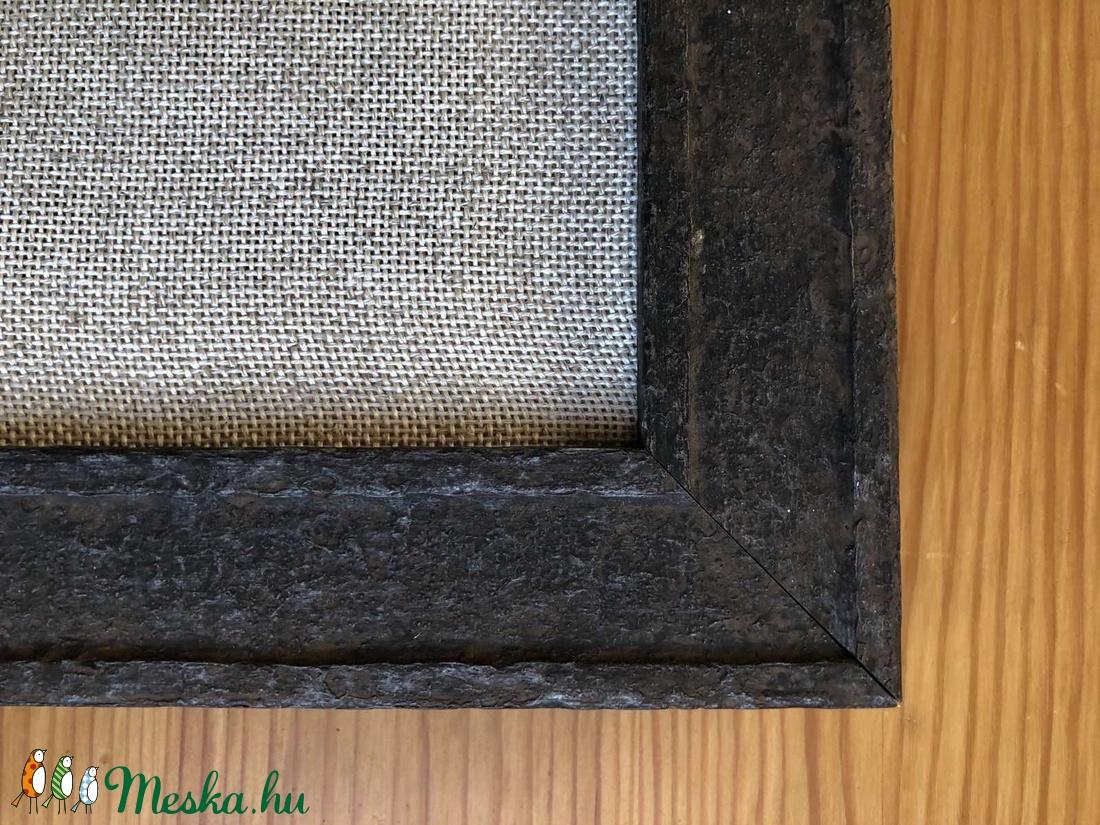 Hímezhető alap keretre feszítve - zöldesbarna - díszíthető tárgyak - díszíthető textil - Meska.hu