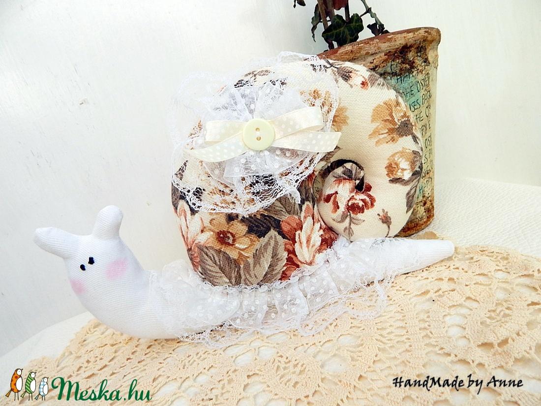 Rózsás vintage csiga, dekoráció  - otthon & lakás - dekoráció - dísztárgy - Meska.hu