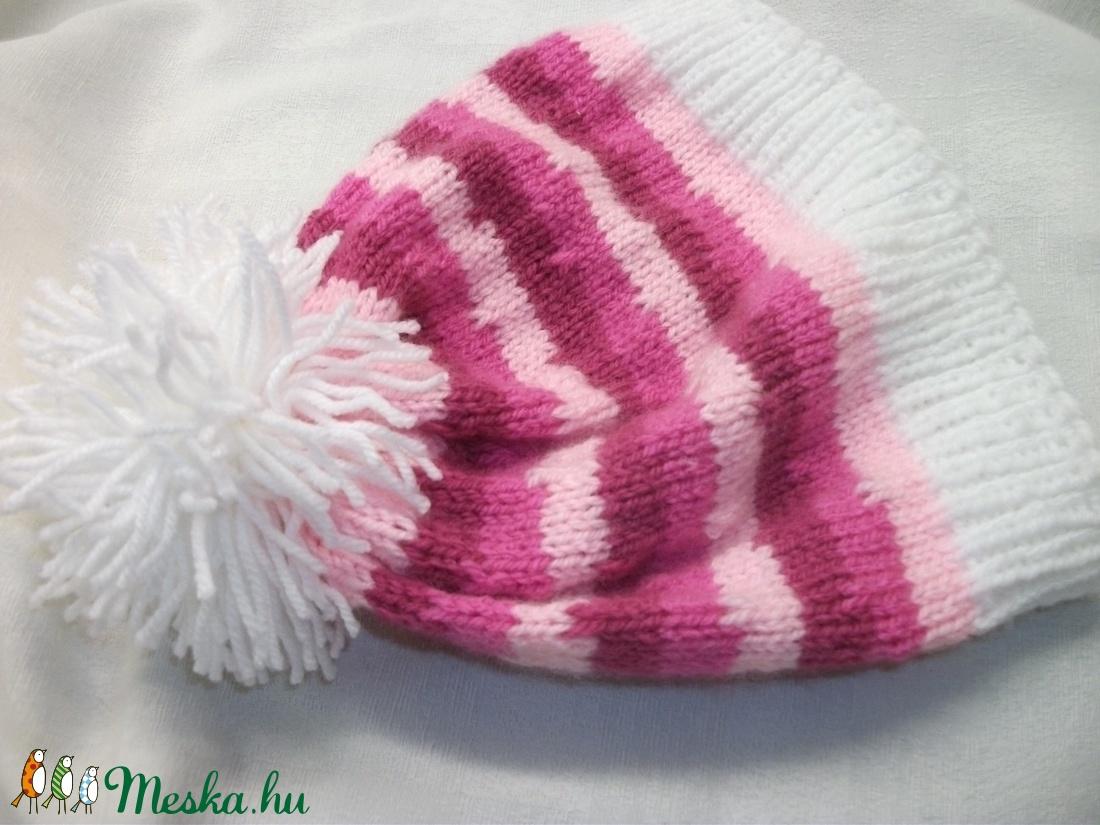 5708801362 ... rózsaszín, mályva kötött kislány sapka (AnniMari) - Meska.hu ...
