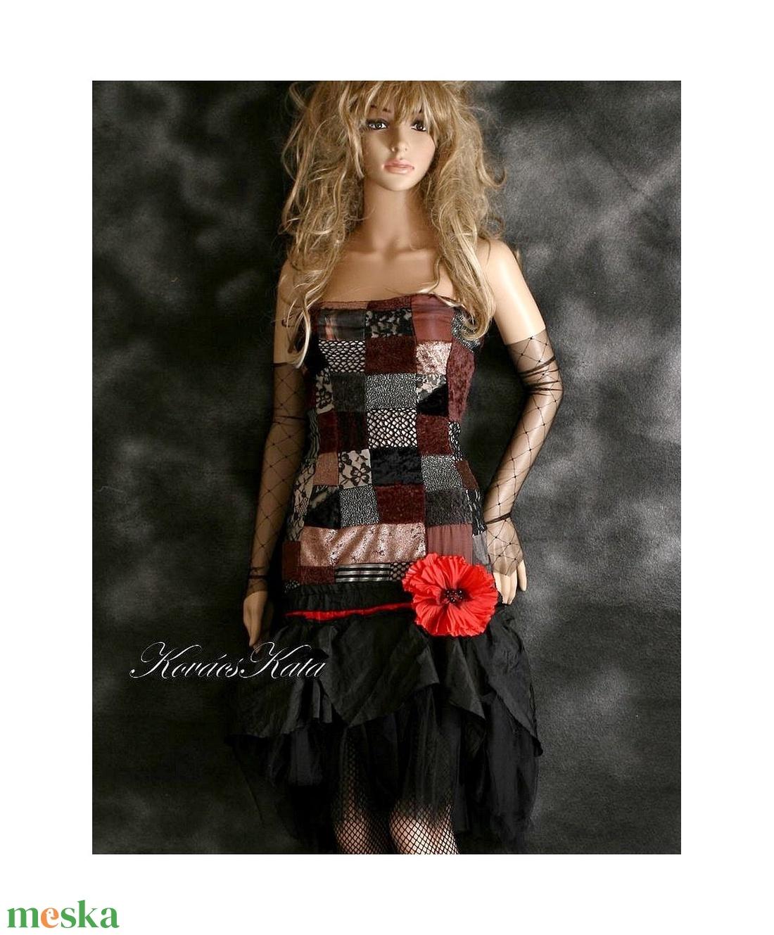 GABRIELLA - patchwork koktélruha - ruha & divat - női ruha - alkalmi ruha & estélyi ruha - Meska.hu