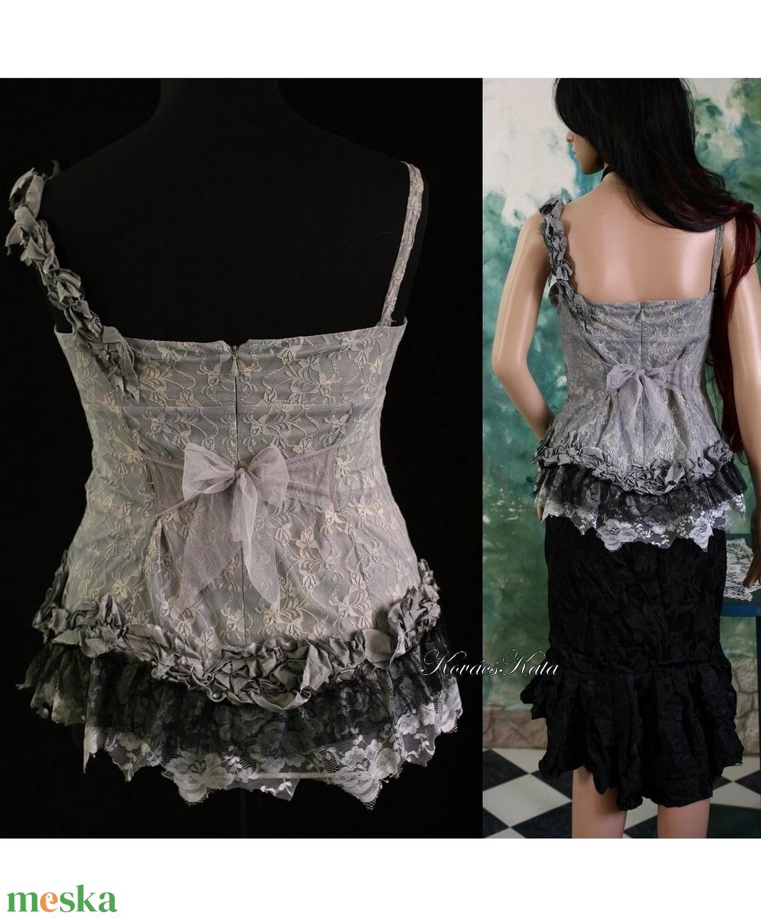 TÉLIKERT - artsy kollázs felső - ruha & divat - női ruha - alkalmi ruha & estélyi ruha - Meska.hu