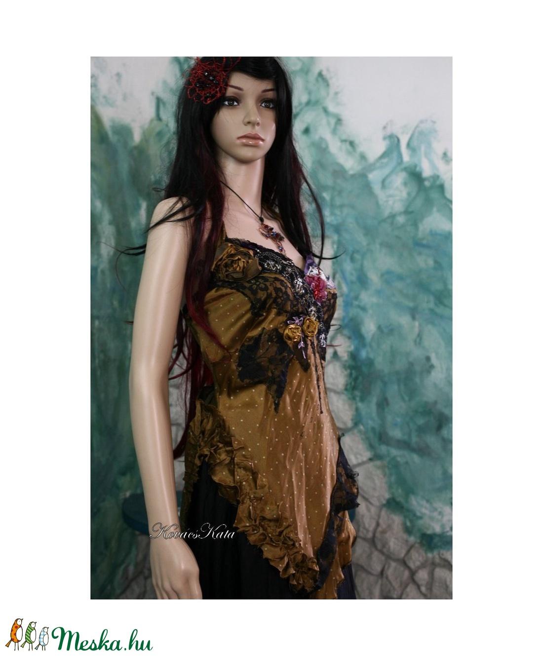 GOLDEN-NIGHT - kollázs felső - ruha & divat - női ruha - alkalmi ruha & estélyi ruha - Meska.hu