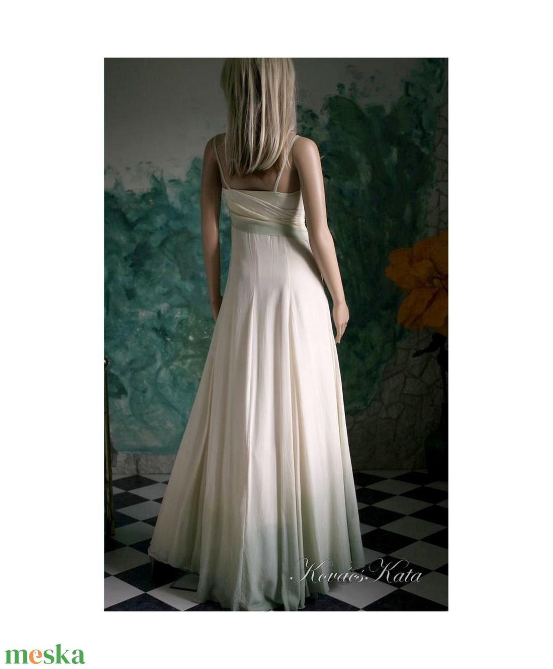 GRACE - selyemruha  - esküvő - ruha - menyasszonyi ruha - Meska.hu