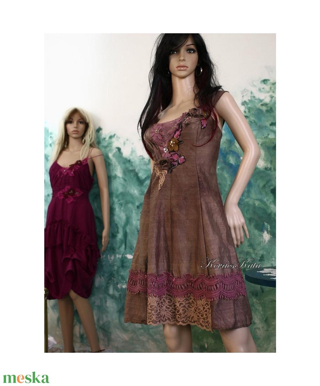 DINA - artsy hernyóselyem shantung koktélruha  - ruha & divat - női ruha - alkalmi ruha & estélyi ruha - Meska.hu