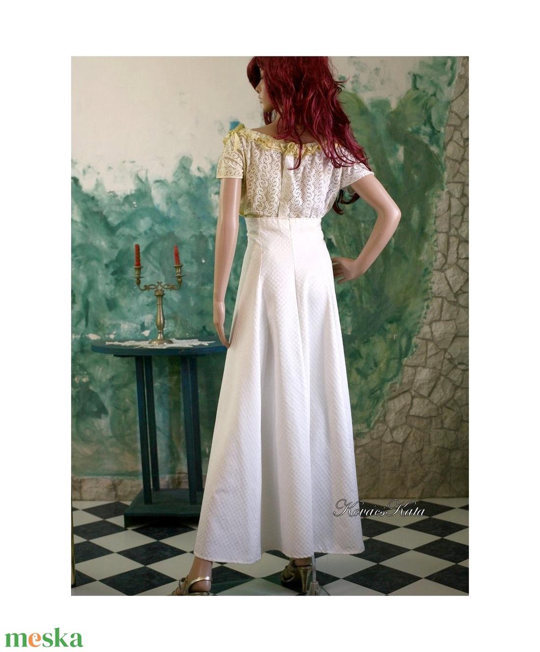 MALVIN - vintage styl design-szett, alternatív esküvői ruha  - esküvő - ruha - menyasszonyi ruha - Meska.hu