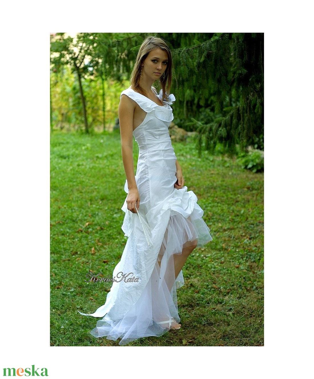 TÍMEA - szexi menyasszonyi ruha   - esküvő - ruha - menyasszonyi ruha - Meska.hu