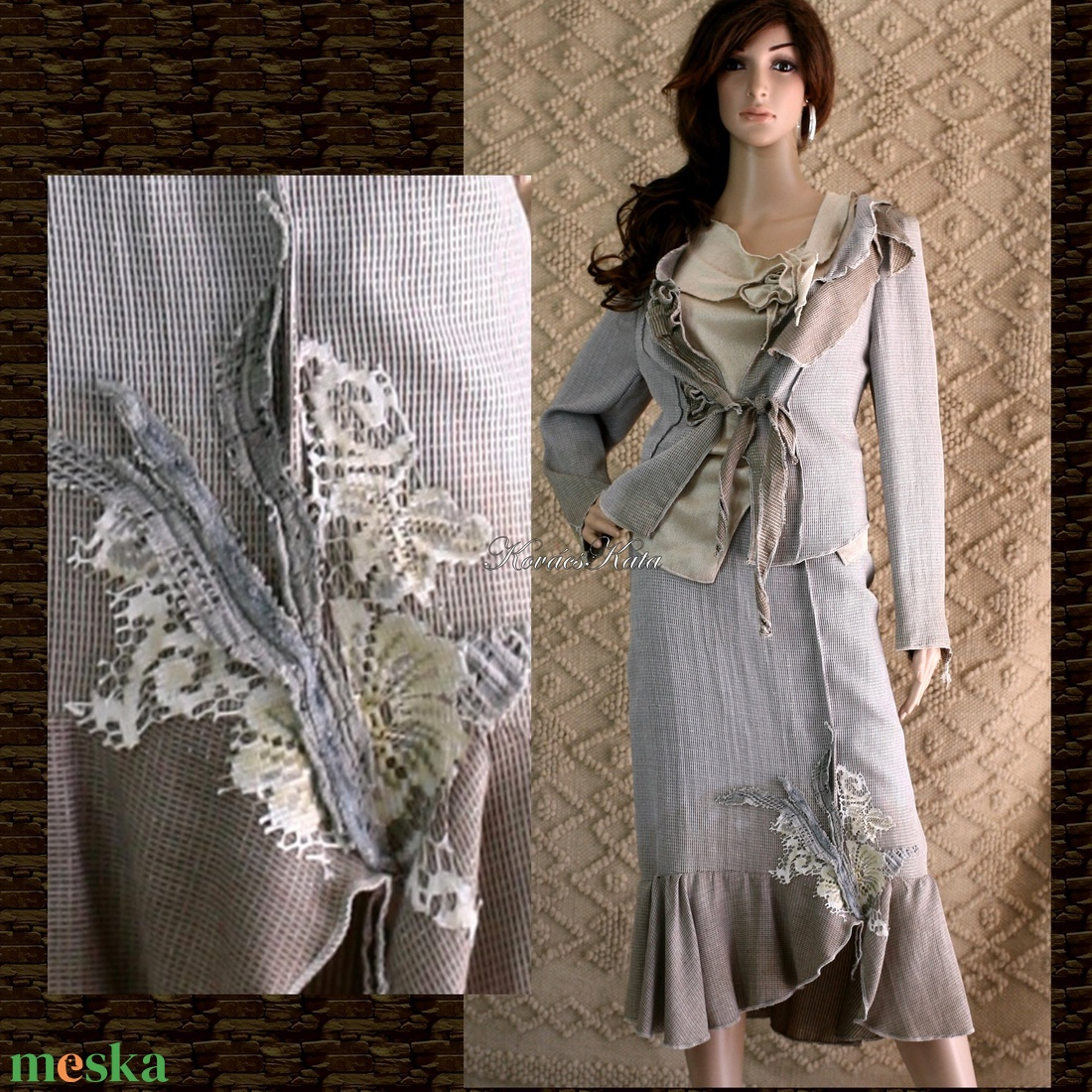JUSZTINA - örömanya design kosztüm (Aranybrokat) - Meska.hu 866eea0b5b