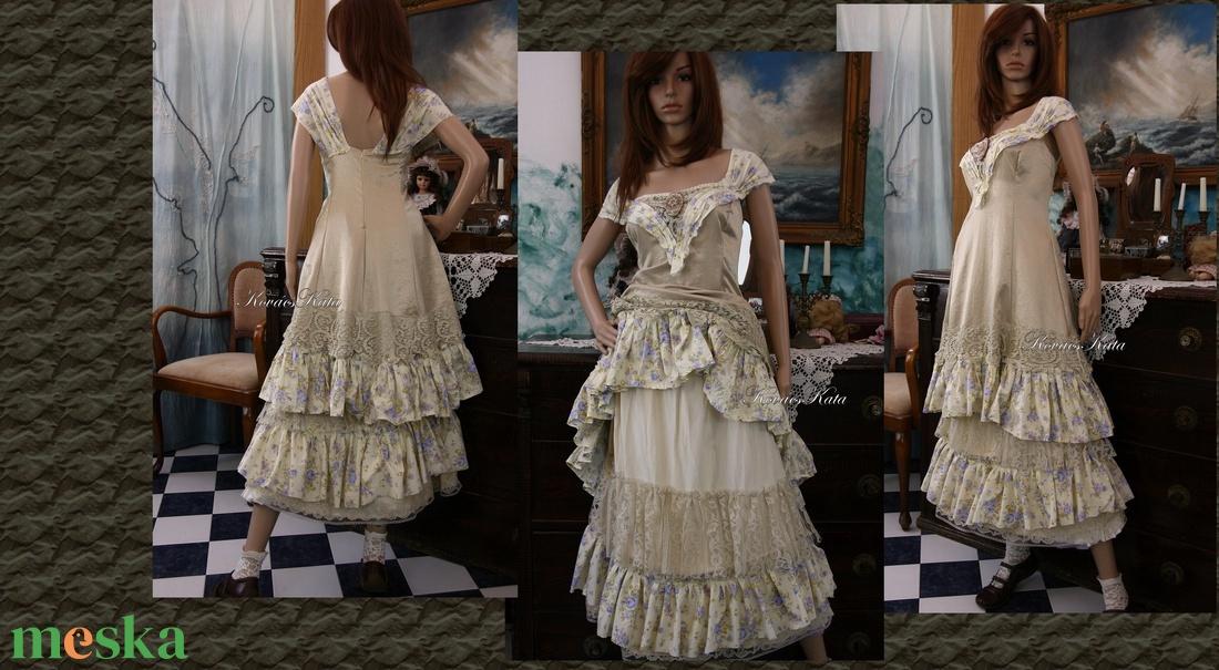 ... ARIKA- designruha XL - alternatív esküvői ruha (Aranybrokat) - Meska.hu  ... 1ab134cf6f