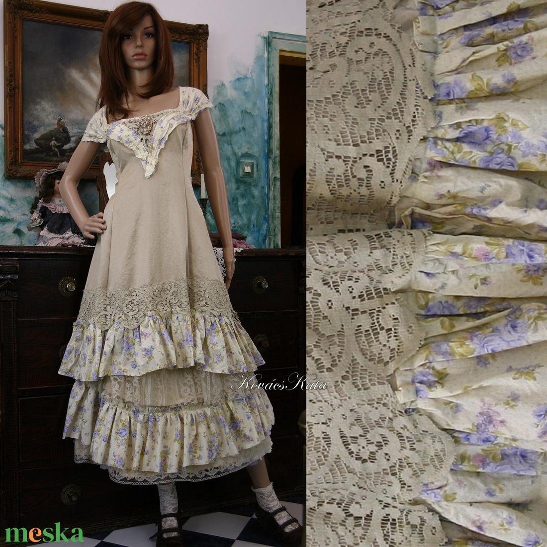 ARIKA- designruha XL - alternatív esküvői ruha (Aranybrokat) - Meska.hu ... 597ba074fa