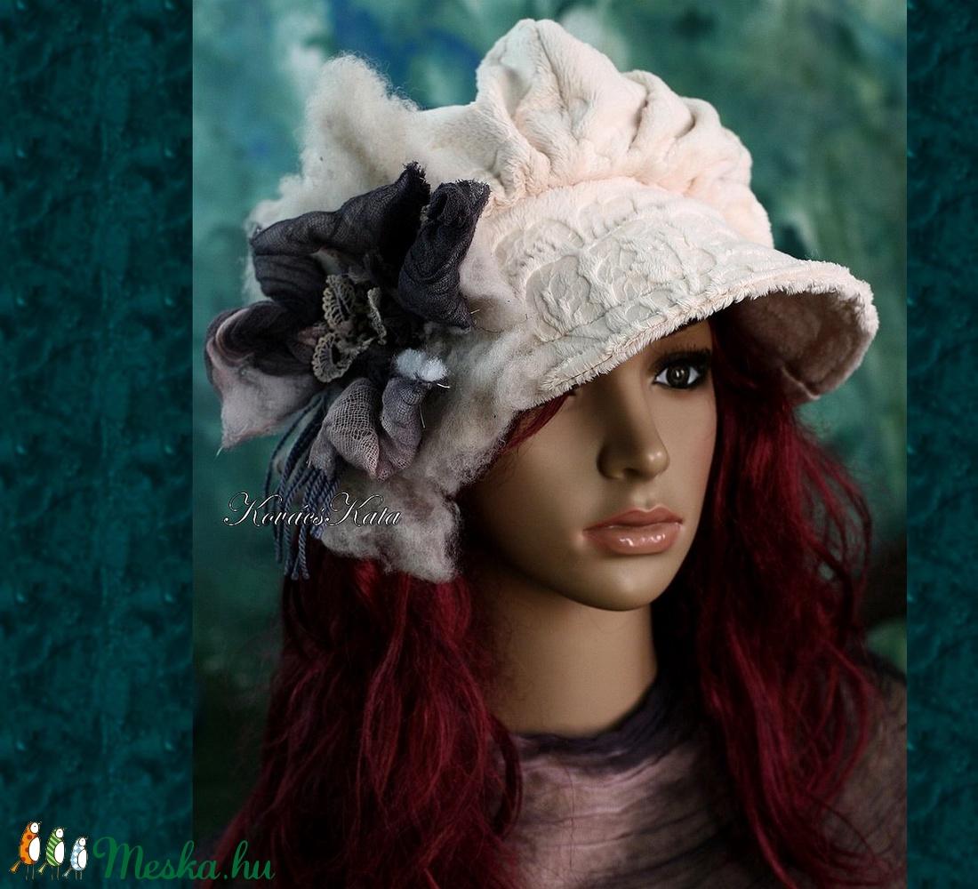 ANTOINETTE  - iparművész barett kalap - ruha & divat - sál, sapka, kendő - kalap - Meska.hu