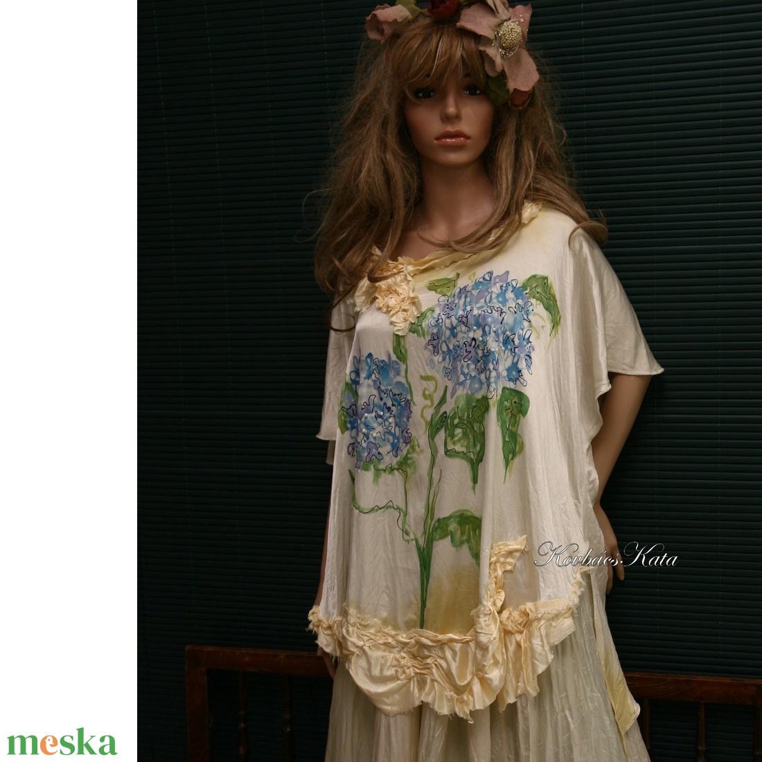 HORTENZIA - art to wear blúz XXL (Aranybrokat) - Meska.hu 9fea71ba77