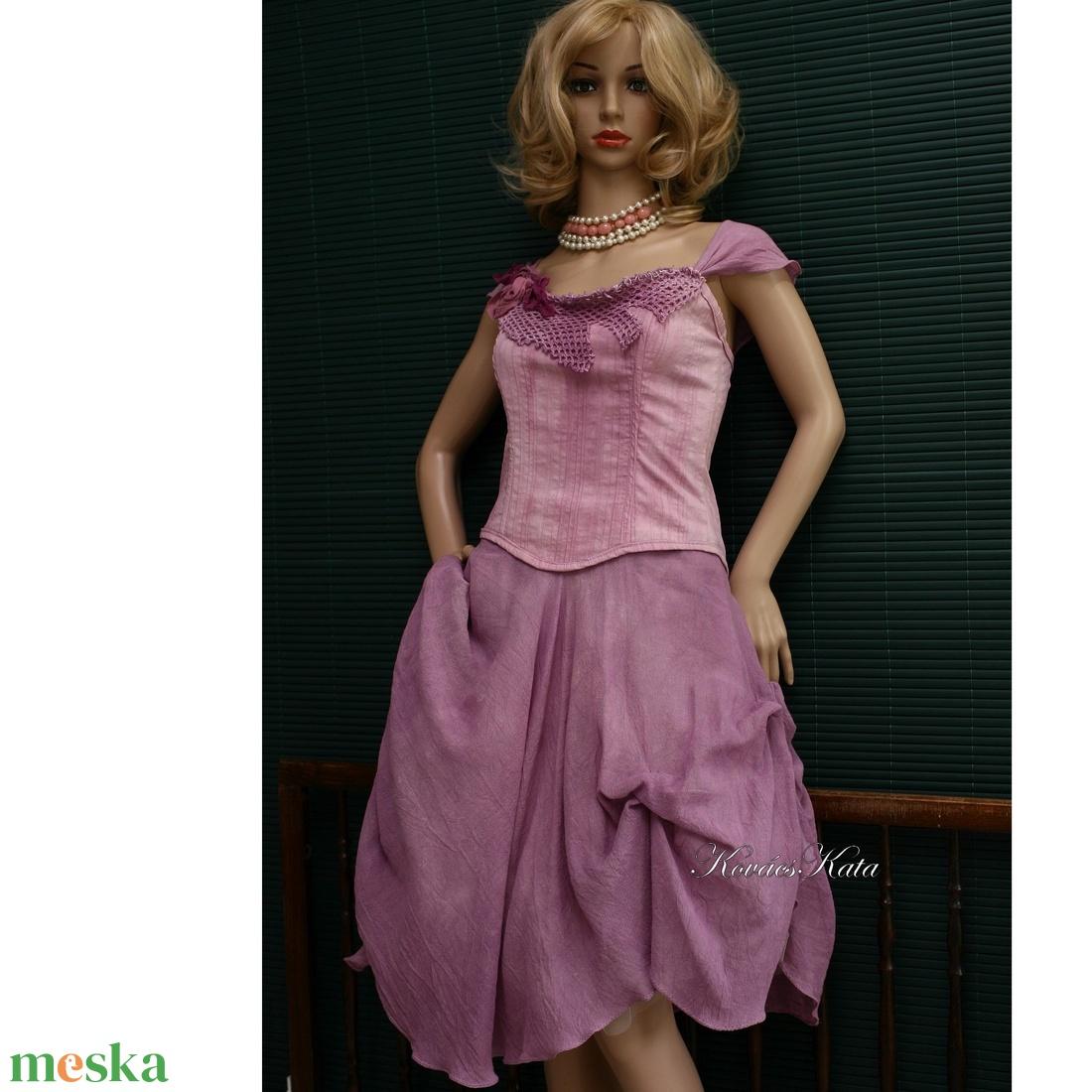 GEORGINA - romantikus artsy korzet-ruha - ruha & divat - női ruha - ruha - Meska.hu