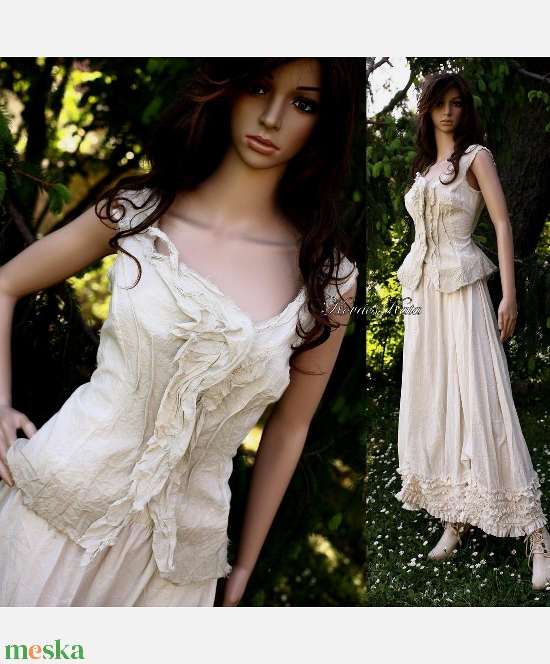 MILLENIUM - romantikus design-ruha - esküvő - ruha - menyasszonyi ruha - Meska.hu