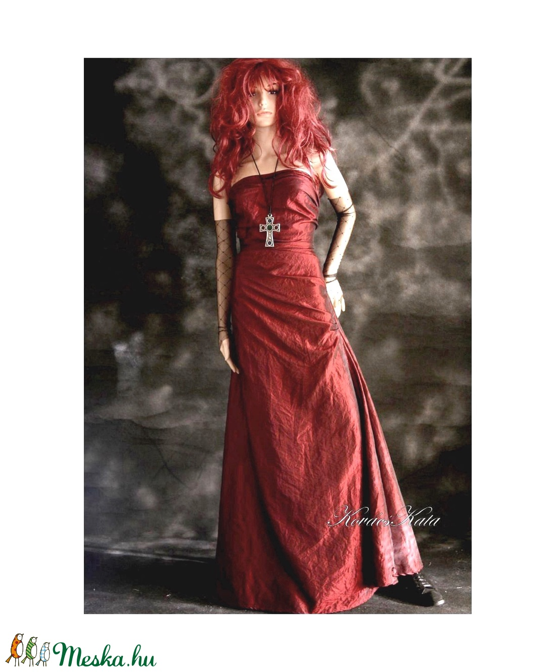 ZSANNA - estélyi ruha gallér-stólával - ruha & divat - női ruha - alkalmi ruha & estélyi ruha - Meska.hu