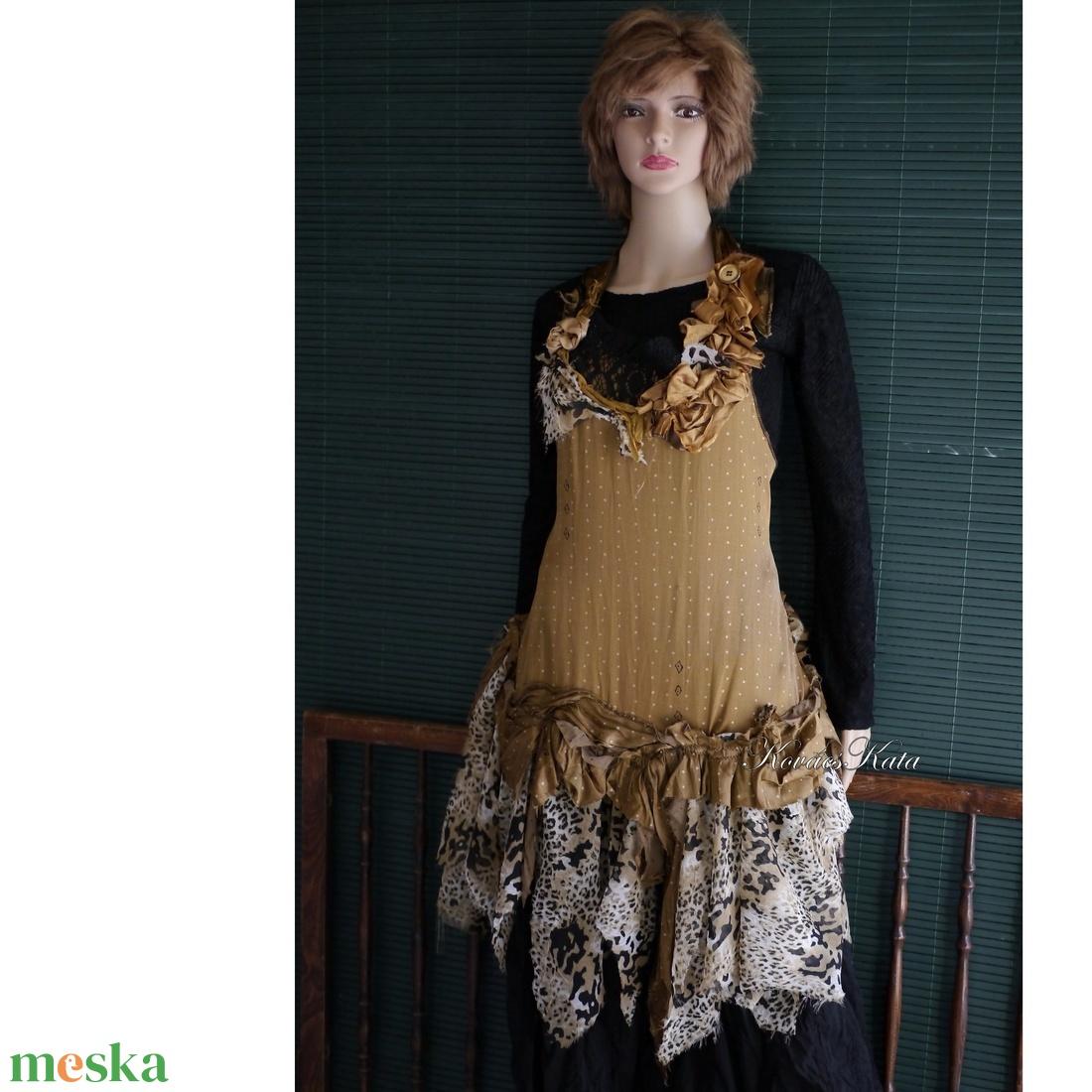 GIZELLA - extravagáns selyemruha - ruha & divat - női ruha - alkalmi ruha & estélyi ruha - Meska.hu