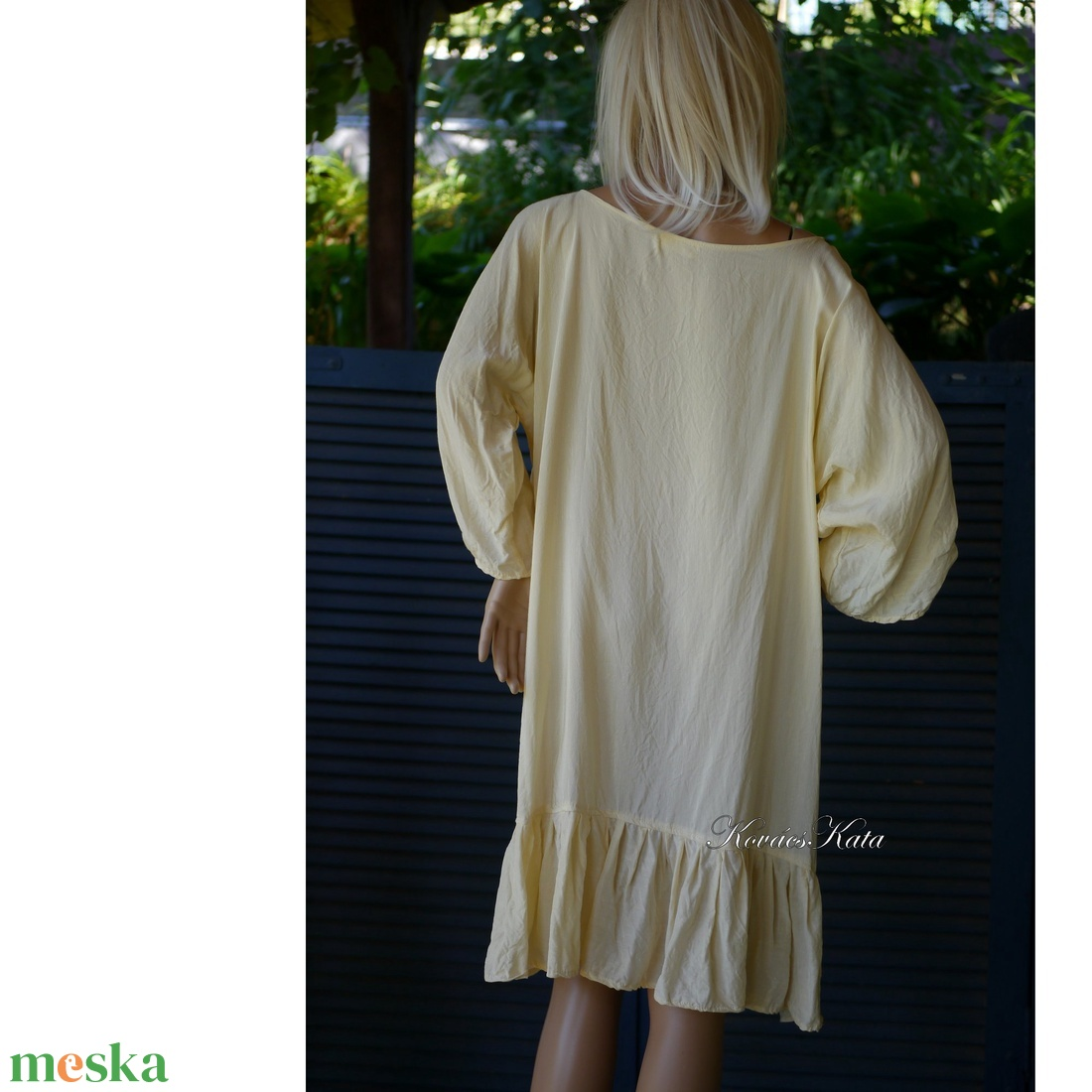 GINA - viszkóz-selyem flapper ruha, tunika-ruha - ruha & divat - női ruha - alkalmi ruha & estélyi ruha - Meska.hu