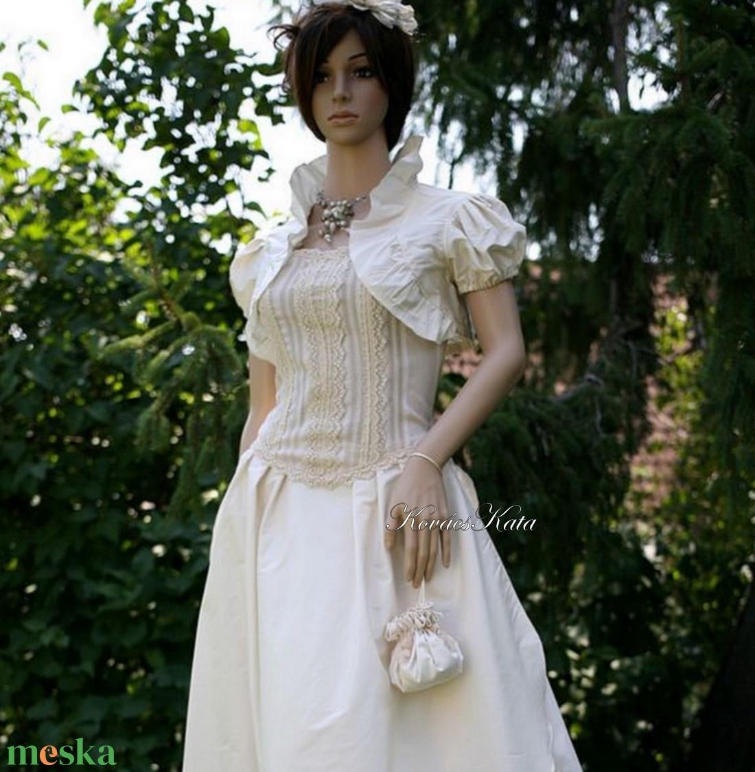 MAJA- vintage stílusú menyasszonyi design ruha - esküvő - ruha - menyasszonyi ruha - Meska.hu